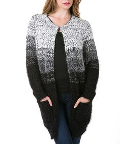 Another great find on #zulily! Black Ombré Cardigan by High Secret #zulilyfinds