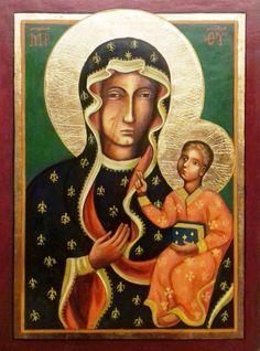 """Jasna Gorai  Istenanya  (""""Fekete Madonna"""") Lengyelország, Czestochowa XIV-XV. század"""