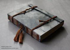 Delicacy I  handbound longstitch book by veterok on Etsy, $75.00