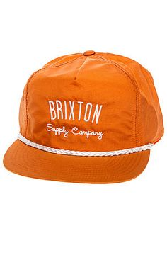 8260a2f775e2b Brixton Hat The Driven Snapback in Orange - Karmaloop.com Brixton