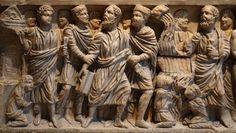 Sarcófago de San Justo de la Vega - Arte Paleocristiano, Museo Arqueológico Nacional