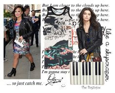 Demi Lovato Style by thebagtique on Polyvore featuring Carven, Free People, Bagtique and GetTheLook