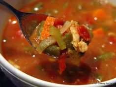 Simple Healthy Crockpot Italian Chicken Vegetable Soup - From 101 Cooking For Two