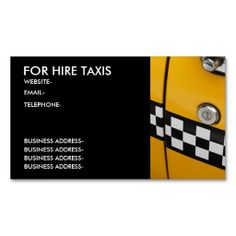 New York taxi Business Cards. Make your own business card with this great design. All you need is to add your info to this template. Click the image to try it out!