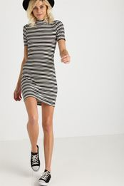 kn angela mock neck mini dress