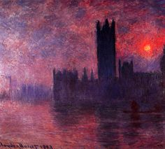 """Claude Monet, """"Houses of Parliament at Sunset""""  (Please, don't remove the authorship of the Art Work)"""