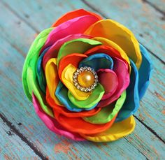 The Hair Bow Company | Rainbow Flowers - headband for amaya :)