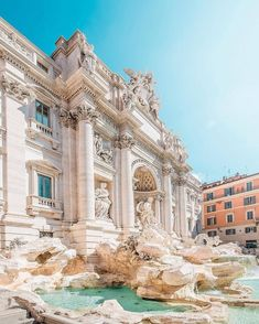 Trevi fountain: rome, italy i want to travel, travel list, travel goals Places Around The World, Oh The Places You'll Go, Places To Travel, Travel Destinations, Around The Worlds, Photos Voyages, Travel Aesthetic, Rome Italy, Wanderlust Travel