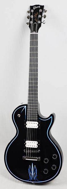Gibson Les Paul Studio Hot Rod (Ebony w/Blue and White Pinstripe) - this is a gorgeous lady!!!!