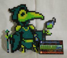 Shovel Knight - Plague Knight Bead Sprite by CorneliusPixelCrafts on DeviantArt