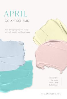 So instead, here is the color scheme that's full of pastels and a vivid turquoise! Colour Pallette, Colour Schemes, Color Patterns, March Colors, Paint Colors For Home, Champagne Color, Colour Board, Color Theory, Pantone Color
