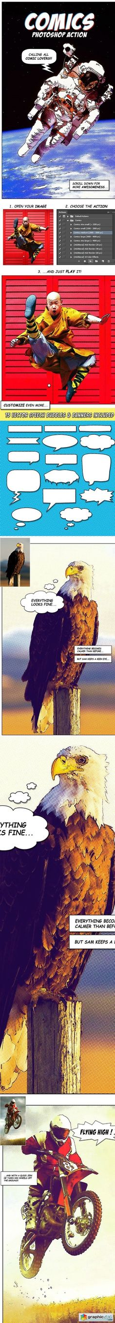 Comics Photoshop Action 17036318