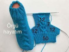 New Crochet Socks Lace Projects Idea - Diy Crafts - maallure Knitting Patterns Free, Free Knitting, Baby Knitting, Crochet Patterns, Free Pattern, Knitted Slippers, Crochet Slippers, Crochet Yarn, Crochet Ripple