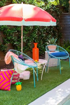 Hot-glue a few yards of colorful fringe to your beach or patio umbrella to easily refresh it.   5 Incredibly Clever DIYs That You'll Actually Want To Try