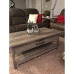 Better Homes & Gardens Modern Farmhouse Lift-Top Coffee Table, Rustic Gray Finish - Walmart.com