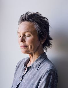 Laurie Anderson - beautiful with silver hair