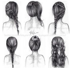 Art Dos Tresse Chignon Tirage Au Sort Dessin Dessins
