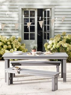 Our Gorgeous Provence Outdoor collection brings a touch of French style to your alfresco dining area. Made from painted pine wood in a subtle grey, our Provence outdoor furniture is suitable for both indoors and out and can be used all Summer long. Perfect for everyday outdoor dining or those big family get-togethers, our elegant wooden table and altar style benches exude French living and looks stunning in any indoor or outdoor space. Made from painted pine wood.  Please note…