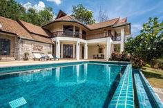 Krabi Villa Sunset Located in Klong Muang Beach, this air-conditioned villa features a terrace with sea views. The property is 35.4 km from Phi Phi Don and free private parking is provided.  The kitchen has an oven, a microwave and a toaster, as well as a kettle. A flat-screen TVwith satellite channels, as well as a CD player are featured. Other facilities at Krabi Villa Sunset include an outdoor pool. #Travel