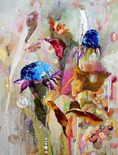 #AmandaKrantz | All Things Grow IV. #flowers #painting