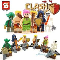 Clash Of Clans Minifigures SY261 Minifigure Building Blocks Figure Barbarian Goblin Wizard Wall Breaker Archer Toys For Children