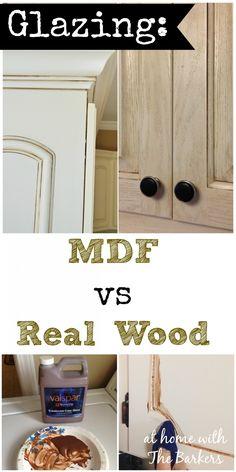Glazing MDF versus Real Wood Kitchen Cabinets