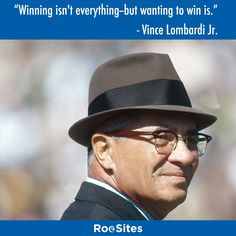 Winning isn't everything--but wanting to win is. - Vince Lombardi Jr. Great #quote from a great motivator. It isn't always about the outcome but the desire to succeed. #Instaquote #Lombardi #NFL #RooSites #WebDesign #Boston