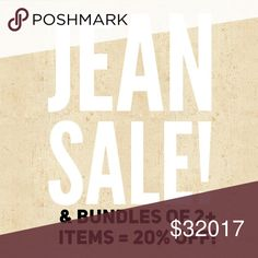 Denim and Sale Lovers! These jeans need to find new homes like all my items! Now until Monday my jean prices have been cut and you can bundle 2 or more items for 20% off which is practically unheard of on Posh! More items to come next week so please help me clear some wonderful clothing out of my closet!❤ As always if you have ANY questions on a product ask me!😊 Other