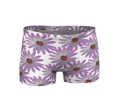 Purple Workout Shorts Gym Clothes Stretch Shorts by WhimZingers