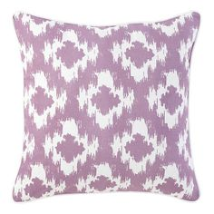Bali Ikat ColorSpree Pillows in Lavender (Patterned Pattern, outdoor pillows) | Room Furnishing Accessories, Accent Pillows from Company C (...