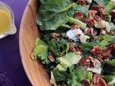 "Sweet Greens with Maple Vinaigrette (Hudson Valley Bounty) - Nancy Fuller, ""Farmhouse Rules"" on the Food Network."
