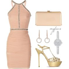 Pink and Cream by mgfrias on Polyvore---love the creamy pink, flattering at any age