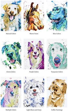 You'll Fall in Love With These Budget-Friendly Custom Pet PortraitsYou can find Pet portraits and more on our website.You'll Fall in Love With These Budget-. Watercolor Cat, Watercolor Animals, Tatoo Dog, Pet Branding, Animal Room, Dog Paintings, Animal Drawings, Pet Drawings, Dog Portraits