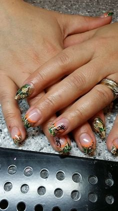 Camo gel nails