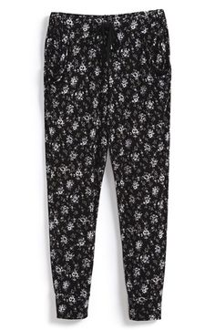 Girl's T2 Love 'Mini Flower' Print Slouch Pants