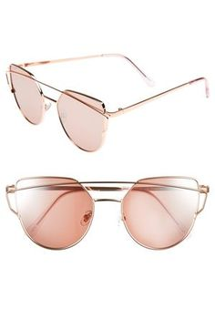 3d084cd77160 51mm Thin Brow Angular Aviator Sunglasses Brow