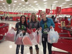 Target shopping for Sub for Santa gifts!