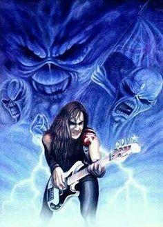 Steve Fng Harris Of Iron Maiden