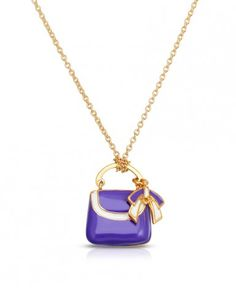 Necklece with the purple elegant bag for a little fashion lover. Packed in beautiful box and a bag.
