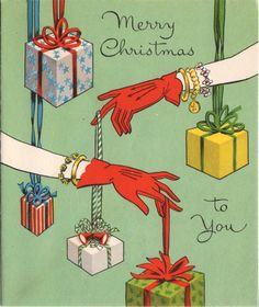 a favorite...Charms for the Holidays...Vintage Christmas Card
