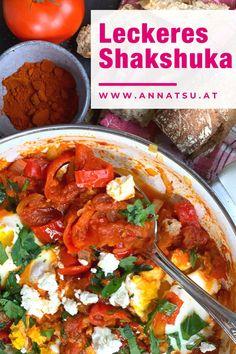 Heute gibt es leckeres Shakshuka zum selber machen! Dies ist eines meiner liebsten Shakshuka Rezepte. Lass es dir super gut schmecken! #Shakshuka #ShakshukaRezepte Foodblogger, Curry, Ethnic Recipes, Shakshuka Recipes, Super Simple, Recipes Dinner, Eat Lunch, German, Curries