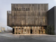 Images by Cemal Emden. Greyder Shoe Factory is located at Corum-Ankara Highway. The gross construction area is On the ground floor, there are public spaces like. Coupes Architecture, Factory Architecture, Public Architecture, Industrial Architecture, Concept Architecture, Landscape Architecture, Architecture Design, Ankara, Building Skin