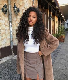 Indian Style 667658713493938250 - Human Hair Wigs Jerry Curly Inch Lace Frontal Wig Density Source by sss_vlf Winter Mode Outfits, Winter Fashion Outfits, Autumn Fashion, Classy Winter Outfits, Classy Chic Outfits, Lazy Fall Outfits, Fall Office Outfits, Chill Outfits, Classy Style