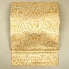 Ivory fukuro obi /【袋帯】アイボリー地金の四神文柄六通