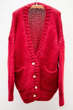 Mes Demoiselles Red Coquille Cardigan