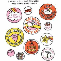 We should still get stickers for doing hard stuff!!