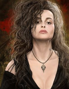 Bellatrix Lestrange as seen in the Harry Potter movies - a portrait painted from scratch in which will hopefully be first in a series of four. Description from symphonymilner.deviantart.com. I searched for this on bing.com/images