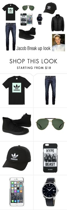 """Break up look"" by courts-horan13 on Polyvore featuring adidas, Jack & Jones, Converse, Gucci, adidas Originals, LES (ART)ISTS, Kenzo, Frédérique Constant, Tumi and men's fashion"