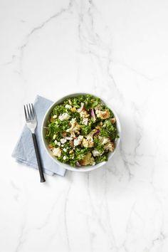 Kale and Roasted Cauliflower Saladgoodhousemag