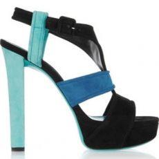 Gucci Tri-Color Suede Platform Sandals